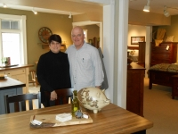 Angie And Ron Nandor The Owners Of Eastwood Amish Craft Furniture Inside Their New